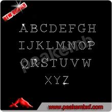 Beautiful Hotfix Rhinestone Transfer Alphabet For T-shirt