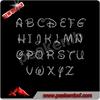 Beautiful New Design Rhinestone Applique Alphabet For Clothing