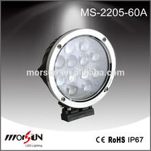 Chromed circle 60W work lamp LED, high brightness car mounted driving light