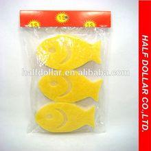 3pcs Fish Shape Bath Sponges