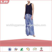 Jersey Tank & Ikat Print Wide Leg Pants for ladies