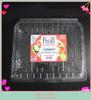 2lb higned lids plastic disposable clear fruit container