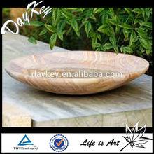 Smarll Round Stone Birdbath, Cast Stone Garden Ornament Birdbath By Marble