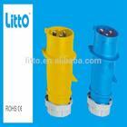IP44 16A CE Industrial 3 Pin Plug Top