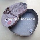 Custom design heart shape cardboard gift storage box Paris Tower printed box