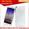 "with english box Original 5.0"" IPS Android 4.4.2 Huawei p7 Kirin 910T 1.8GHz 4G quad core cell phone 4g original"