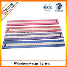 30cm custom wooden rulers with plastic edges