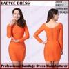 Fabulous orange long sleeve mother of the bride dress 2014