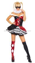 2014 moda caliente venta vestido de fantasía de disfraces de halloween disfraces de circo