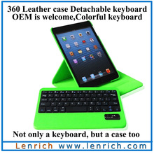LBK137 For iPad Mini 2 Keyboard Case,Removable Leather Case Bluetooth Keyboard for iPad Mini Retina
