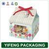 China custom cheap e-co friendly mini paper printing folding house shape cupcake boxes