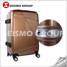 high quality travel trolley luggage bag abs+pc animal school trolley luggage