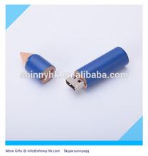 Shinny Gifts wooden Pencil shape 1 gig usb 2.0 flash drive SI-FDW00013