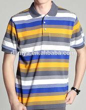 fashion stripe men's polo t shirt