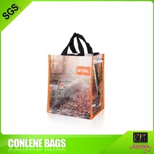 2012 pp woven shopping bag With Double handle