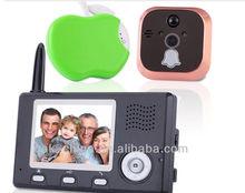 "2014NEW!!3.5"" Digital Wireless electronic cat's eye, video door peephole viewer/ camera"