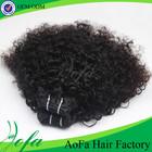 Afro kinky curly weaving hair virgin indian hair bundles