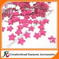 wholesale flat back acrylic rhinestones 8mm star shape for decoration