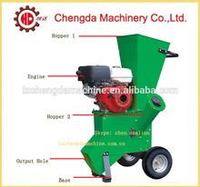 6.5hp gasoline engine bamboo chipping machine, wood branches crusher