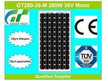 GT280-36-M 280W 36V china solar panels cost
