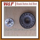 fashion metal tack button,metal button for jean