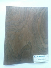 0.25mm artificial black walnut burl wood veneer for furniture decoration with paper back