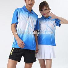 Cielo azul de fútbol jersey y pantalones cortos de ocio polo shirts mujeres vestido de tenis