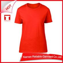 180G Promotional Top Quality 100% cotton women thin cotton t-shirt