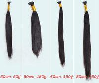 Virgin Brazilian Hair Bulk 30inch 32inch Natural Color 100g/pack