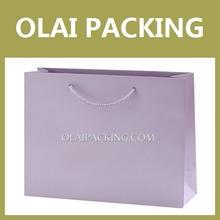 supply high end purple Apparel Paper Bag