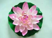2014 SJ AF090 Wholesale artificial lotus flower for pool decorative plastic lotus water lily artificial floating lotus flower