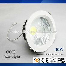 Adjustable recessed 60W cob downlight led