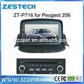 Zestech dvd de voiture pour peugeot 206 dashboard auto spare parts gps