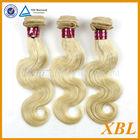 XBL hair blonde color hair Mongolian 100% virgin remy hair bulk