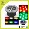 7W hot sale waterproof led inground light rgb