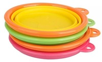 Factory Wholesale BPA Free Collapsible silicone Pet Bowls Dog Bowls dog bowl rubber ring