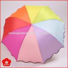 Top quality hot sell pretty ladies umbrella three folding
