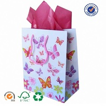 U color Customized paper bag book cover with handles
