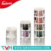 Square shape PS plastic clear glitter powder container