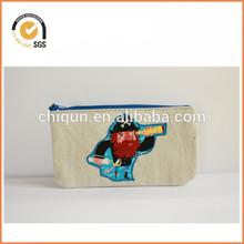 Canvas Pencil Case/ zipper pouch/ kids pencil case By Chiqun Donggaun CQ-H01061