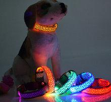 New listing explosion models led dog collar leashes