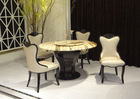 alibaba express supported wooden modern hot sell marble dining tables