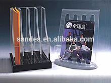 Clear Color Acrylic CD Storage Holder Rack Cheap Plastic DVD Display Shelf