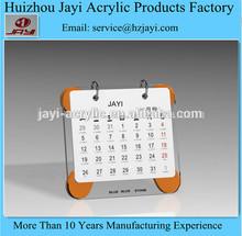 New! X shape plastic in transparent acrylic custom table calendars, custom table calendars, custom plastic models
