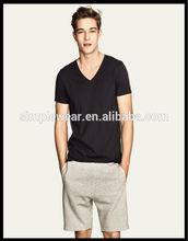 2014 Fashion style custom v-neck tshirt