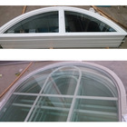 Aluminum arched casement window and french window fire rated windows and glass hardware