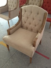 Hot Sale Antique French Style Button Tufted Upholstered Leisure Chair