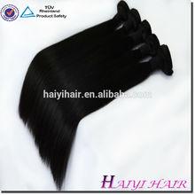 One Donor Virgin Hair Weft Large Stock 100% human hair silky yaki perm weave