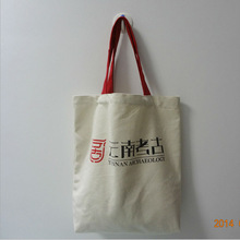 100% Cotton Canvas Tote Bags With Red Rope