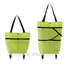 2014 cheap high quality hot sale foldable flexible trolley shopping bag handbag